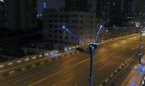 全球首创恒丰路桥景观灯光秀热管